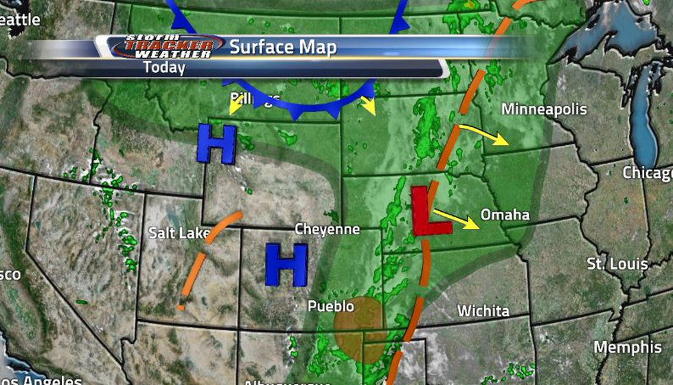 The trough that brought us rain yesterday is moving out east leaving us with dry conditions. A...