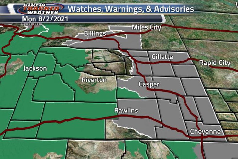 Air Quality Warnings in the east today, and Flash Flood Watches in the west.