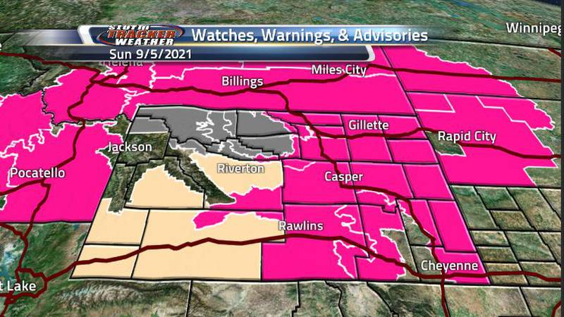 With the seasonable temperatures and winds, we will be seeing some fire watches and red flag...