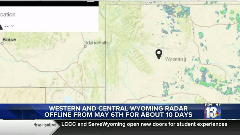 The radar for the National Weather Service in Riverton will go offline for about 10 days...