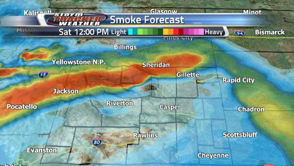 By Saturday afternoon, smoke conditions are looking to be much lighter.