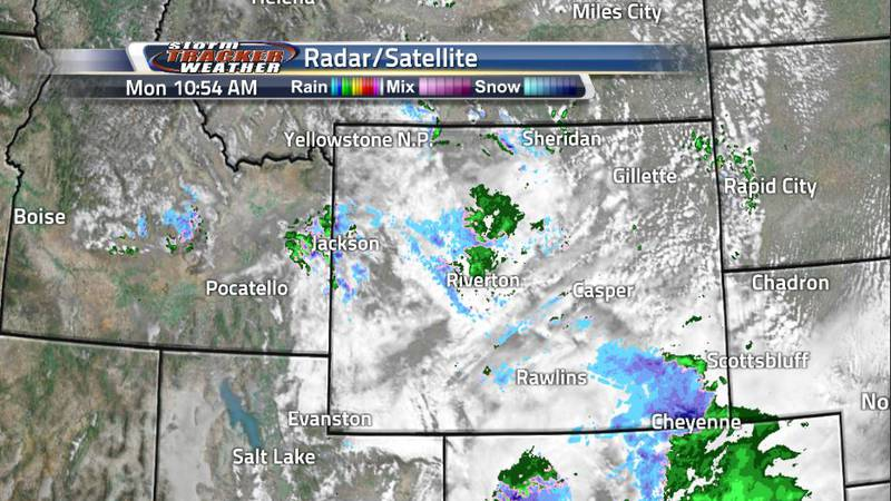 Monday is expected to be filled with a cold rain and a wet snow for Southeastern Wyoming with a...