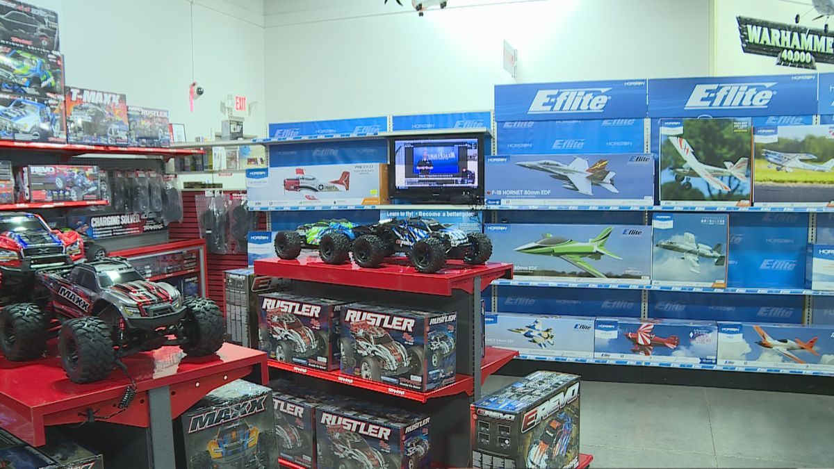 Phillips said at HobbyTown in Knoxville, radio control cars, trains and drones are top sellers....