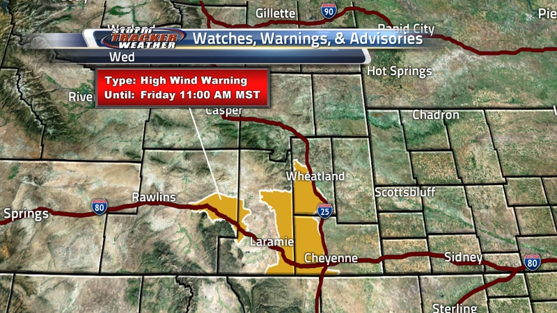 High Wind Warnings Issued until Friday