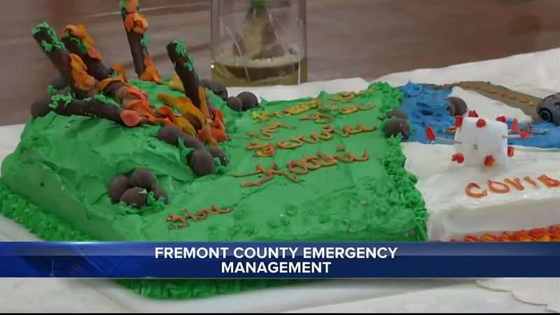Retirement cake made by Julie Freese for Fremont County Emergency Management Coordinator Kathi...