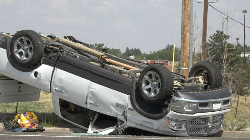 Wyoming News Now observed the truck was damaged on the driver's side, near the rear tire. The...