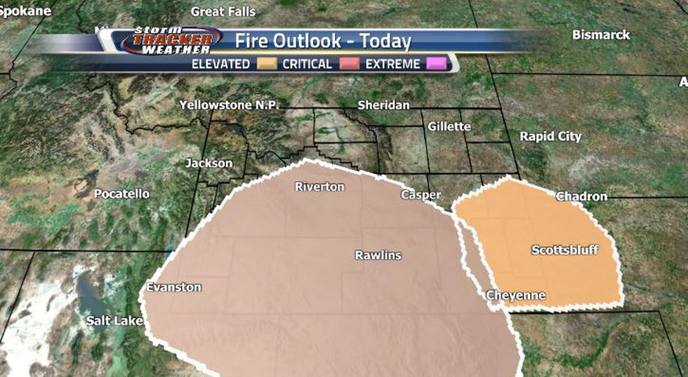 For today, our fire outlook is elevated over the central and southern regions, and critical...