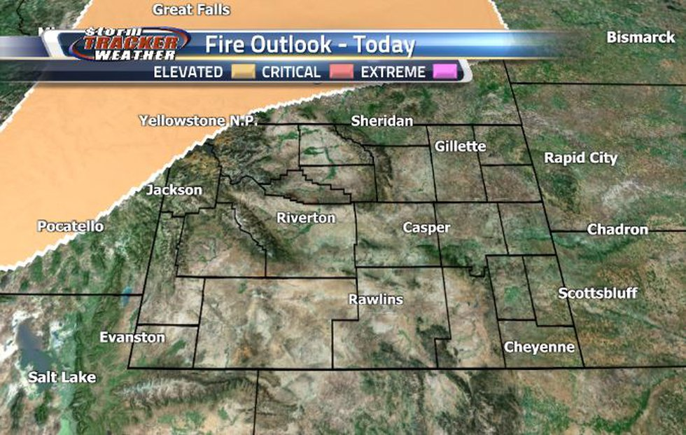 The northwest corner of the state is under an Elevated Fire Weather Risk today.