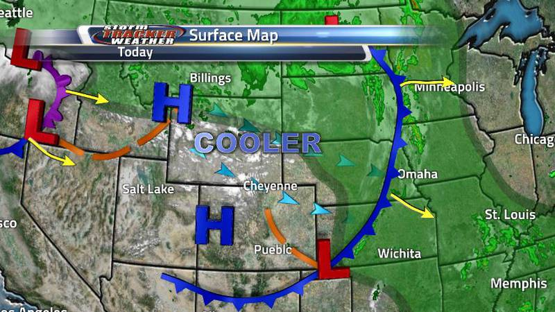 The state is being dominated by a high pressure system which is providing us with cooler...