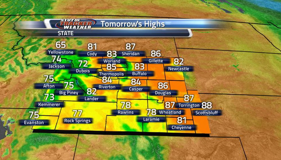 With no significant weather systems coming through, temperatures will remain in the 80s for...