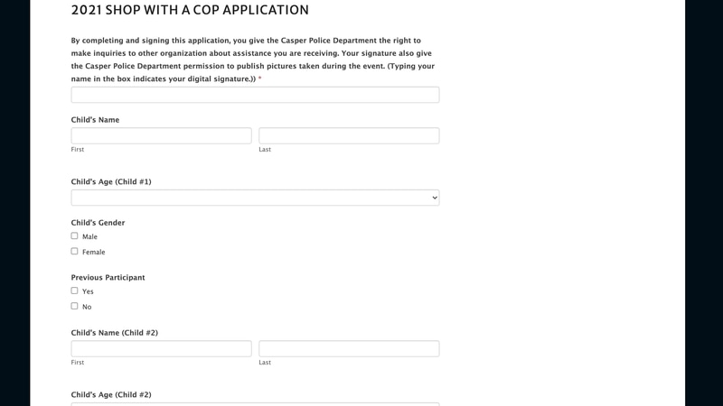 The application for shop with a cop in Natrona County