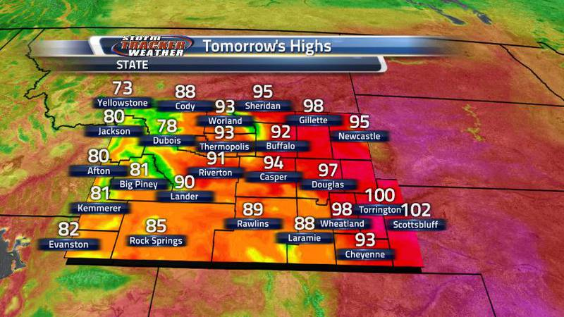 After breaking or tying a number of records today, tomorrow looks to be getting even hotter....