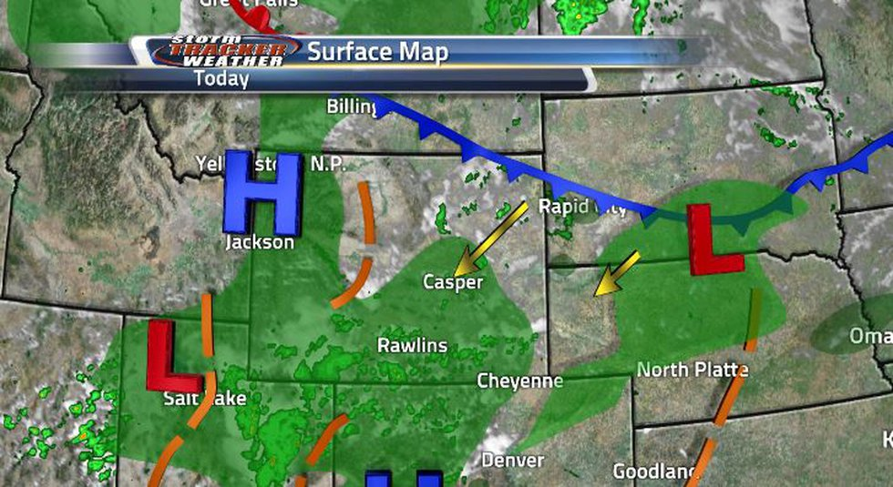 The surface map shows a cold front coming in from the northeast. It will cool us down, and the...