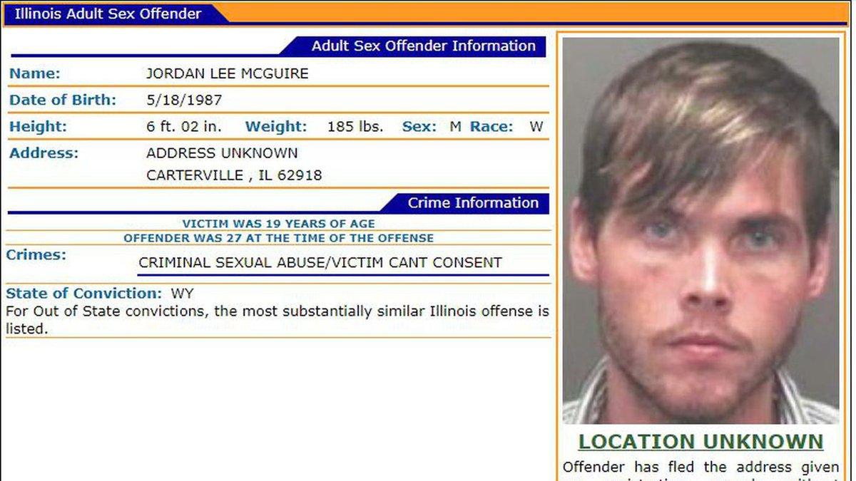 Jordan McGuire on sex offender registry (Source: Illinois Sex Offender Registry)