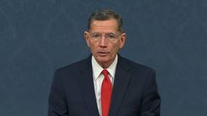 Barrasso is ranking member of the Senate Committee on Energy and Natural Resources.