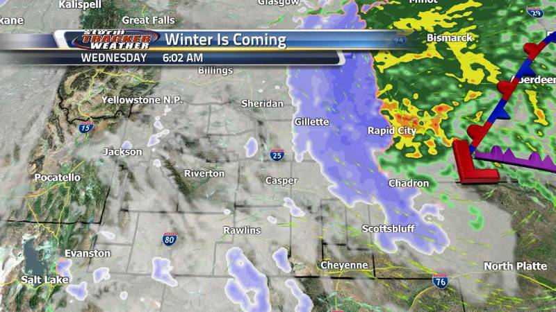The snow will be affecting the eastern regions of the state overnight, but it looks to be...