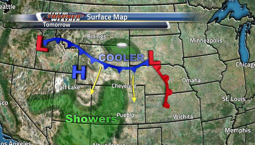 A cold front moving through by midday tomorrow will bring some shower activity but also some...