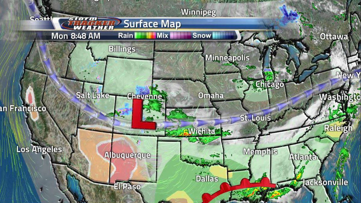 A low pressure system in Colorado has brought winter weather back into southeastern Wyoming,...