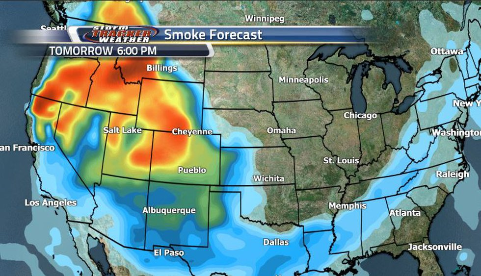 Once the temperatures start warming up again, the smoke finds it's way back in as we have clear...