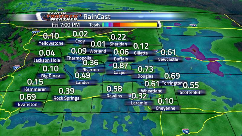 By Friday afternoon, some areas of the state could see up to an inch of rain. This is welcomed...