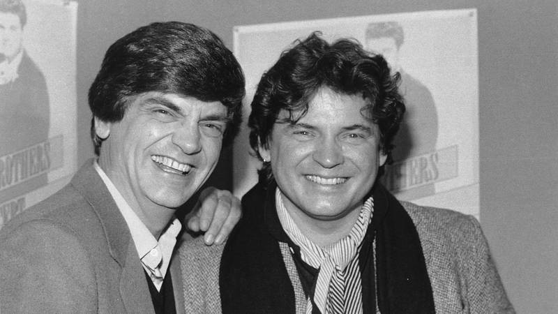 FILE - In this Jan. 4, 1984 file photo, Phil, left, and Don Everly, of the Everly Brothers,...