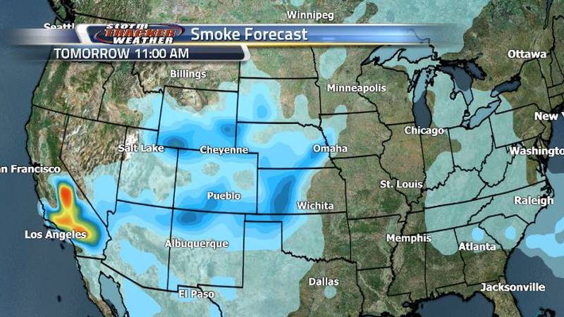 The smoke will start to get a bit heavier early tomorrow morning, then begin lightening up...