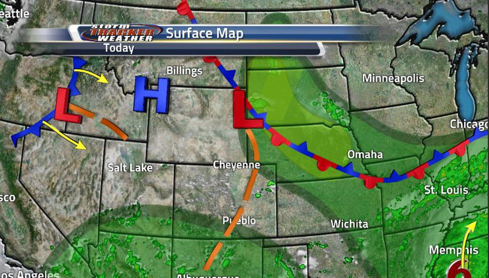 A cold front out to our west in Idaho will be moving through by the middle of the week helping...