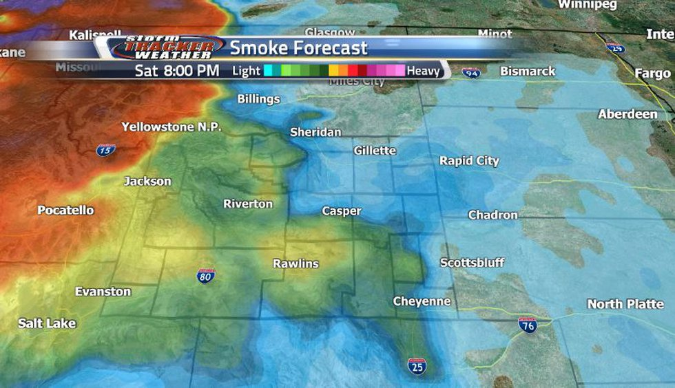 Smoke has cleared out for now but looks to be coming back from the west into the later parts of...