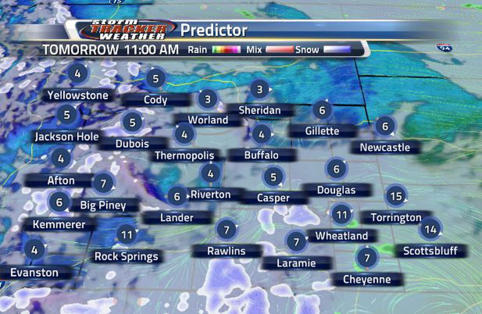 Tomorrow, there is brief period of time for another chance of snow or rain.