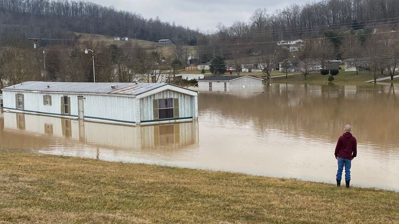 Several people were forced from their homes and aren't able to return due to flooding.