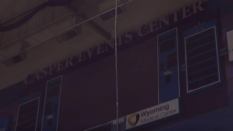 Casper Events Center video board in Casper, Wyo. in March 3, 2020.