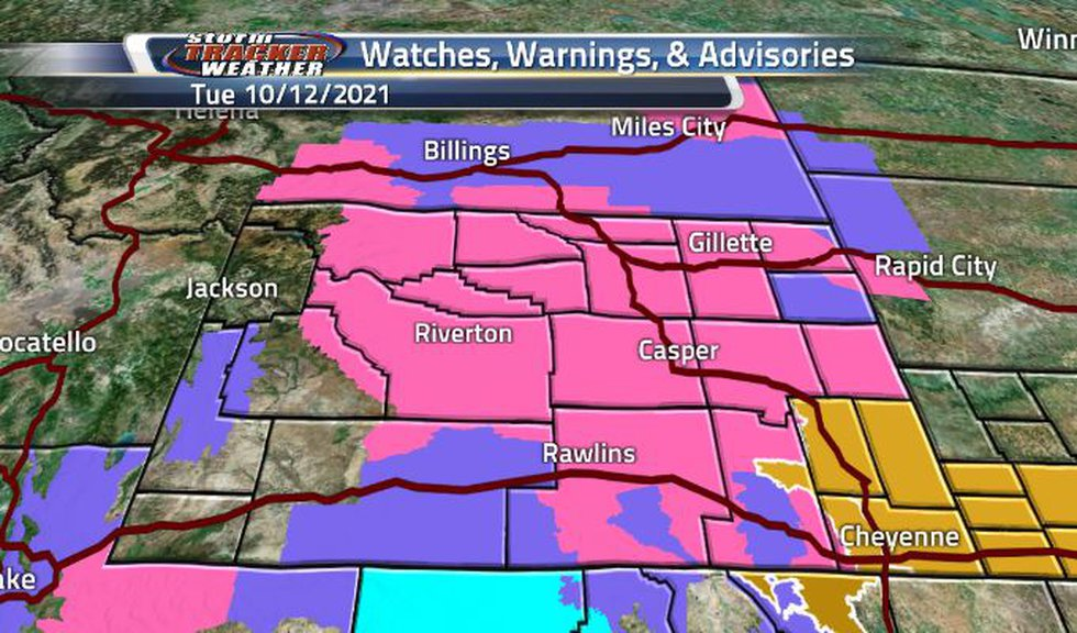 Majority of the state is under some winter style watch, warning, or advisory today.