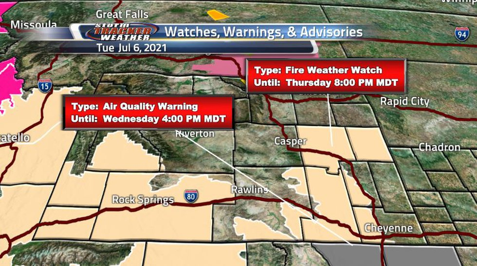 Despite the rain from yesterday, fire weather watches popped up and they will only get worse as...