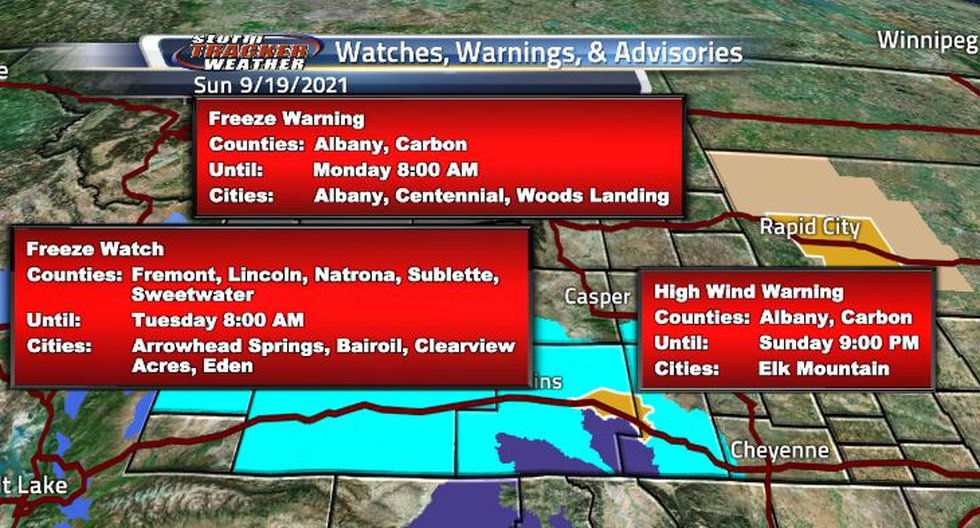 Due to the colder temperatures at night, the state will see some frost watches and warnings. A...