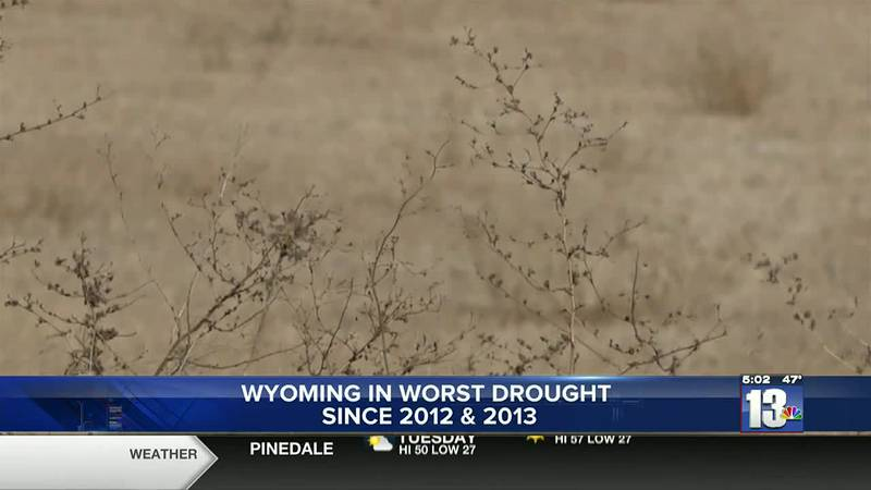 Drought conditions in Wyoming are the worst seen since 2013