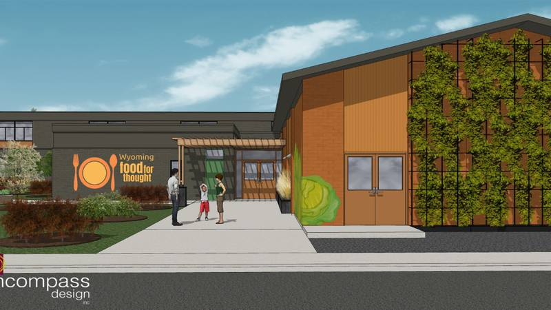The design for the new Food for Thought building