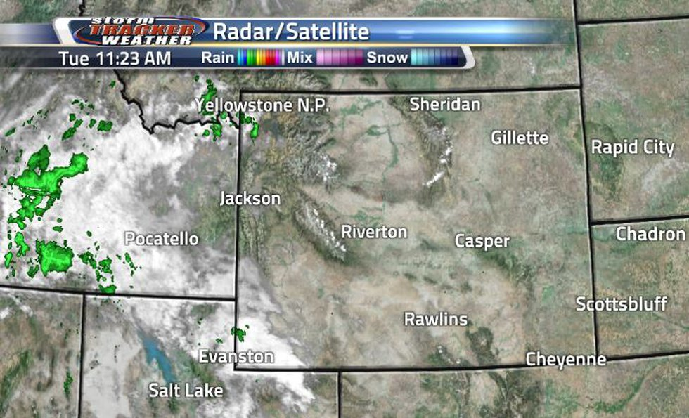 Clouds are not a stranger today along the western border, though they are pretty sparse in the...