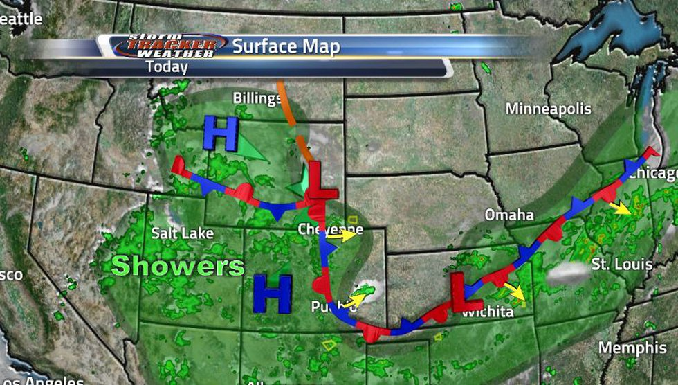 The stationary front sitting over us is struggling to move. Most of it will move out to the...