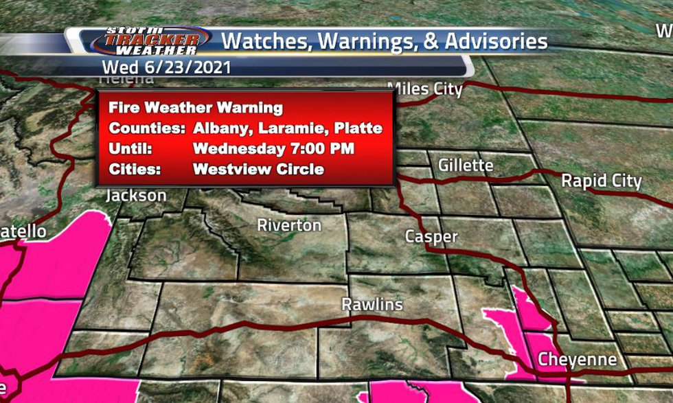 There is a Fire Weather Warning in the southeastern portion of Wyoming. This warning is in...