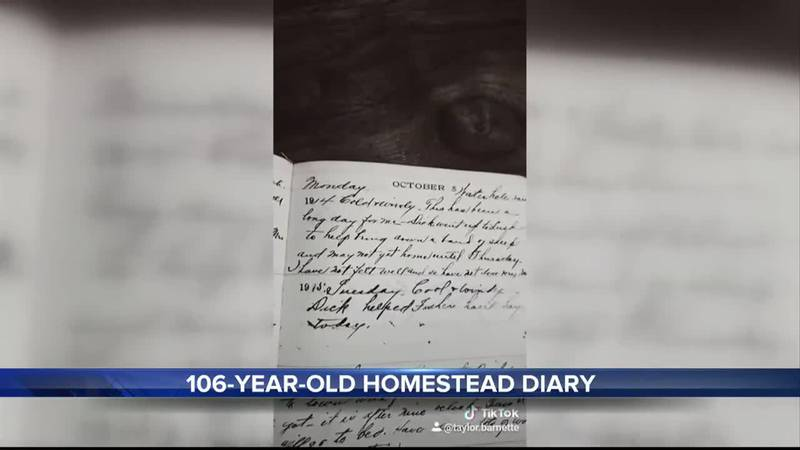 Taylor Barnette shares his great-grandmothers 106-year-old diary on Tiktok