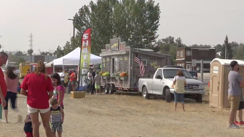 Food trucks at Mills Summerfest in Mills, Wyo. on Saturday, Aug. 22, 2020.