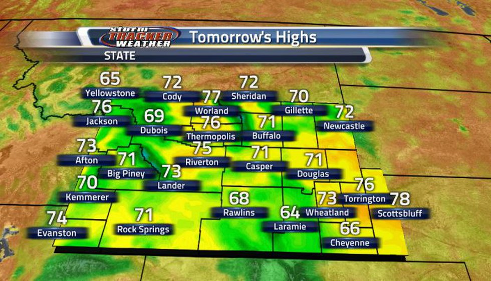 Temperatures around the state are forecasted to remain in the 60s and 70s. This trend is likely...