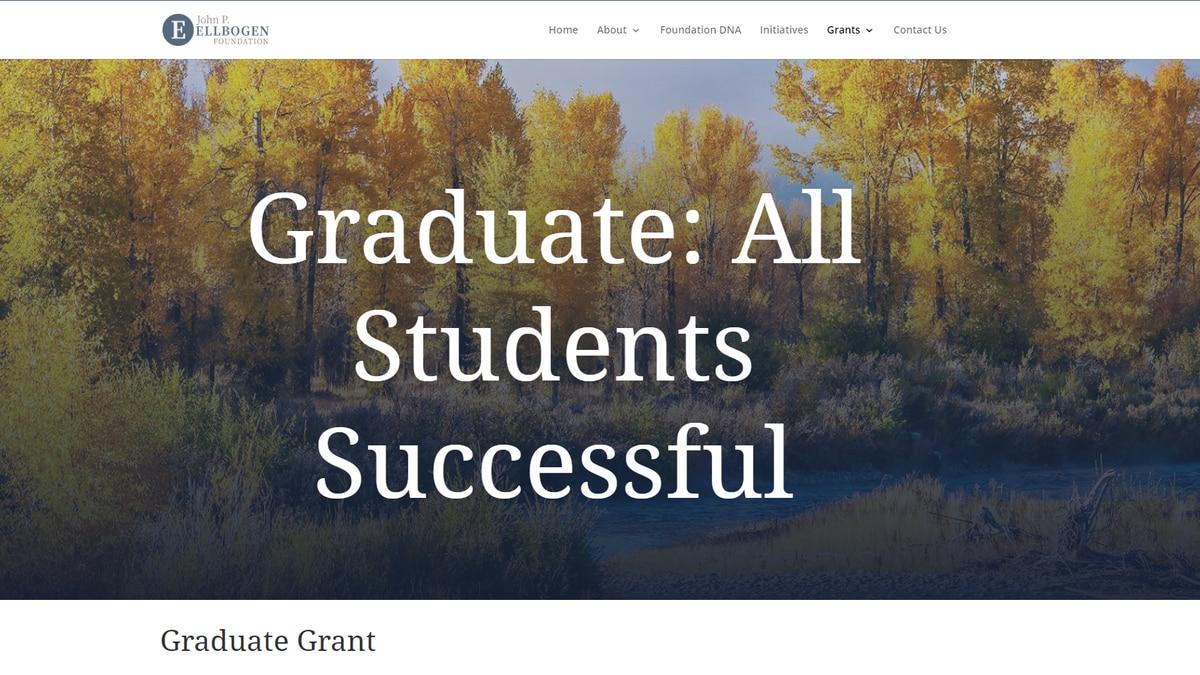 Ellbogen Foundation grant Graduate: All Students Successful