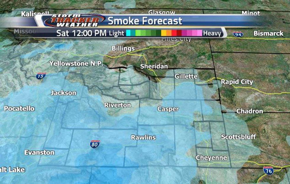 Smoke will push towards the northeastern corner into Saturday afternoon.