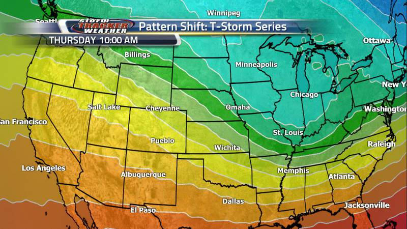 A slight ridging pattern will build into the jet stream as the trough bringing the winter...
