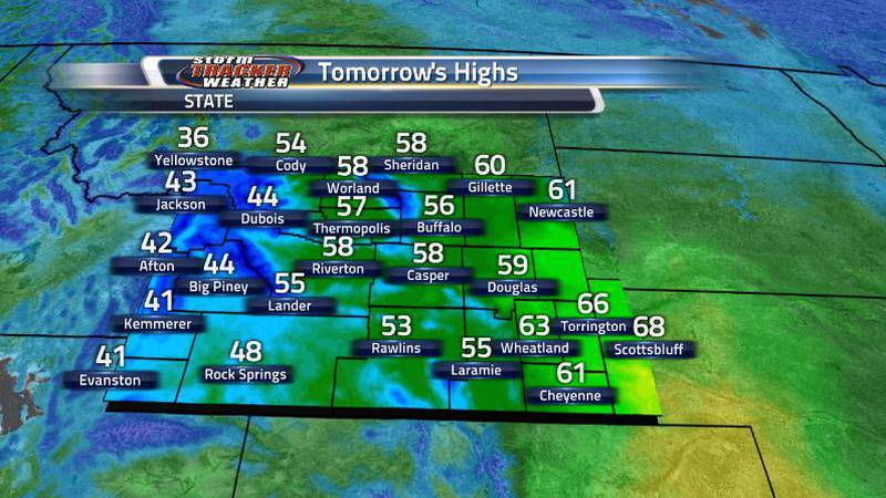 Cooler temperatures will be reaching the western regions first and the rest of the state on...