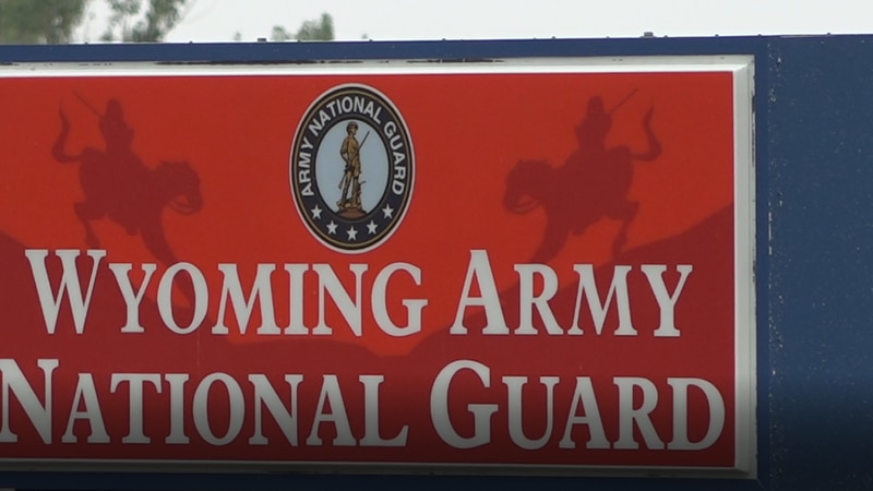 Outside the Wyoming National Guard armory on July 14