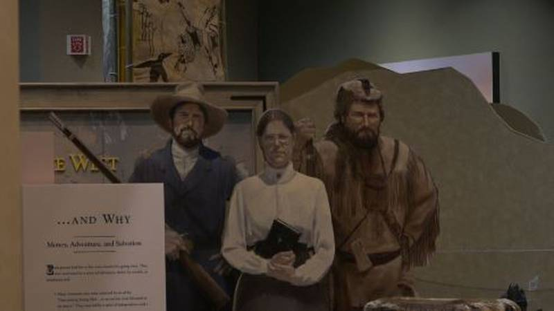 An exhibit at the National Historic Trails Interpretive Center in Casper, Wyo. on Friday, Dec....