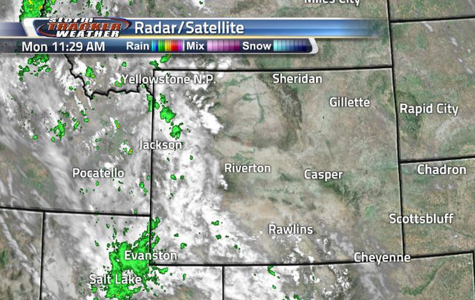 Clouds and showers are staying in the west today. The eastern half is mostly sunny.