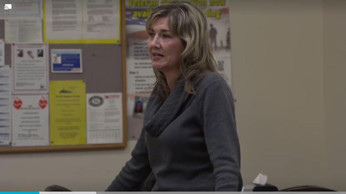 Christine Stenquist, the founder of Truce Utah, holds a forum in Casper
